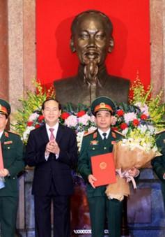 Thăng quân hàm cấp Tướng cho một số sỹ quan quân đội