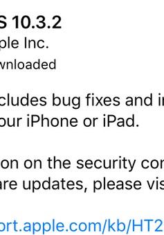 Bản vá lỗi iOS 10.3.2 trình làng: Cải thiện bảo mật, giúp máy bớt ngốn pin