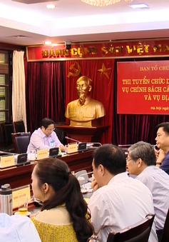 Công khai thi tuyển Vụ trưởng ở Ban Tổ chức Trung ương