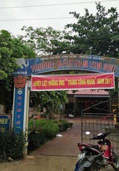 Buộc thôi việc 2 nhân viên trường mầm non Thọ Sơn, Nghệ An