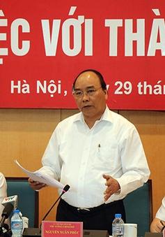 Thủ tướng: Phải tìm những ý tưởng đắt nhất khuyến khích Hà Nội phát triển