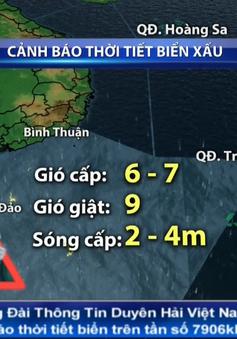 Áp thấp nhiệt đới gây mưa dông kèm lốc xoáy trên vùng biển từ Bình Thuận đến Kiên Giang
