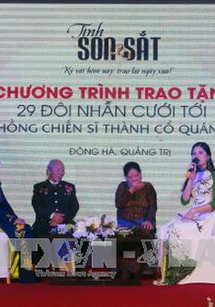 """Quảng Trị: Chương trình """"Tình son sắt"""" trao tặng nhẫn cưới cho 29 đôi vợ chồng cựu chiến binh"""