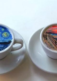 """""""Cà phê tranh"""" hút hồn giới trẻ Hàn Quốc"""