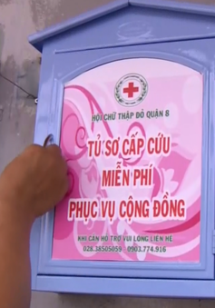 TP.HCM lắp đặt tủ cứu thương đường phố tại các điểm đen giao thông