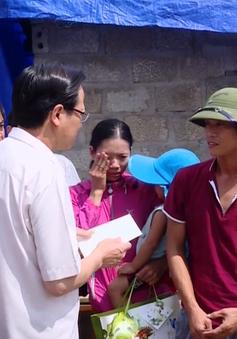 Bộ LĐTB&XH kiểm tra cứu trợ và ủng hộ đồng bào vùng bão