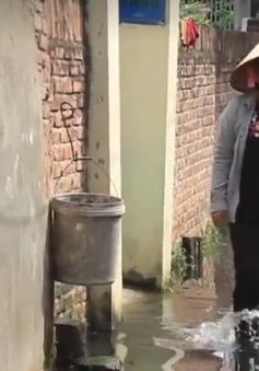 Hà Nội: Hơn 200 người dân khổ sở sống chung với nước cống