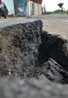 An Giang: Xuất hiện nhiều vết nứt nguy hiểm trên Quốc lộ 91