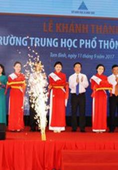 Vĩnh Long khánh thành trường THPT Song Phú