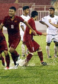 """Những khoảnh khắc ấn tượng trong trận """"thủy chiến"""" U23 Việt Nam 4-0 U23 Timor Leste"""