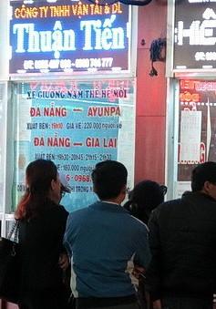 Giá vé xe khách ở Nghệ An đi các tỉnh tăng cao nhất 38%