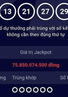 Trúng xổ số Vietlott hơn 75 tỷ đồng ngày đầu năm mới