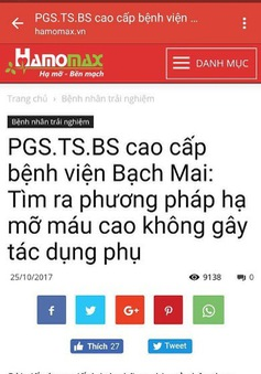 Xử phạt Công ty Cổ phần thảo dược Việt Nam 85 triệu đồng