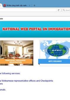 Giải quyết thủ tục nhập cảnh cho người nước ngoài qua mạng