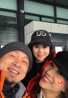 Nhạc sĩ Quốc Trung sang Thường Châu cổ vũ cho U23 Việt Nam