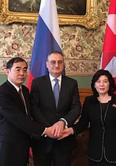 Triều Tiên, Trung Quốc và Nga chia sẻ quan điểm về phi hạt nhân hóa