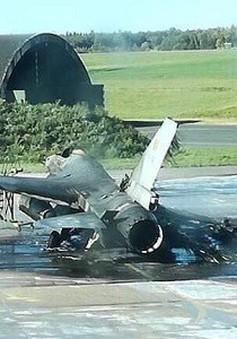 Bỉ điều tra vụ cháy tiêm kích F-16