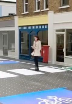 Anh: Vạch sang đường thông minh đảm bảo an toàn giao thông