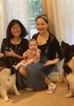 Hết đến Anh, Lan Phương lại đưa con gái 4 tháng tuổi sang Nhật