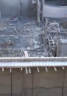 Sập công trình hội trường tiền tỷ khi đang xây dựng tại Đồng Nai