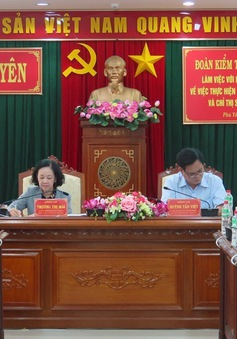 Xây dựng Đảng và hệ thống chính trị: Đoàn kiểm tra của Bộ Chính trị làm việc tại Phú Yên