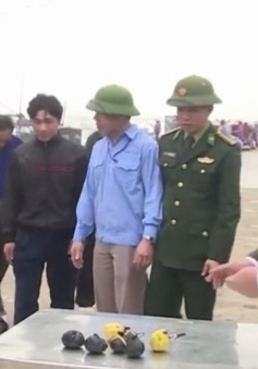 Phát hiện khối lượng lớn thuốc nổ được vận chuyển ra biển Hà Tĩnh