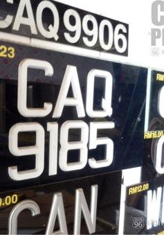Malaysia đấu giá biển số ô tô trực tuyến