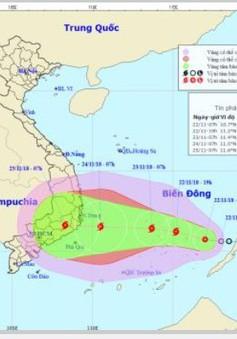 Ứng phó với áp thấp nhiệt đới sắp đổ bộ khu vực từ Phú Yên đến Bình Thuận
