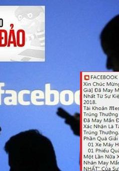 Nhận tin nhắn trúng thưởng qua Facebook, nhiều người bị lừa hàng chục triệu đồng