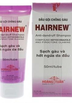 Đình chỉ lưu hành toàn quốc dầu gội Hairnew có chứa chất cấm