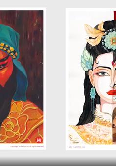 """""""Vẽ về Hát Bội"""", dự án kết nối giữa hai thế hệ nghệ thuật"""