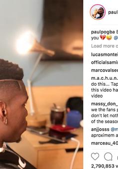 """Paul Pogba """"đốn tim"""" người hâm mộ với kiểu tóc mới"""