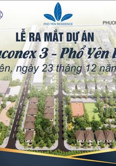 Ngày 23/12/2018, Vinaconex 3 chính thức cho ra mắt dự án Phổ Yên Residence