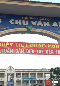 Nước uống trong trường học ở Hà Nội nhiễm khuẩn mủ xanh