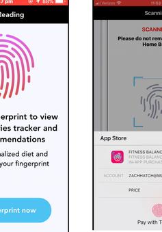 Cảnh báo 2 ứng dụng theo dõi thể dục lừa tiền người dùng bằng Touch ID