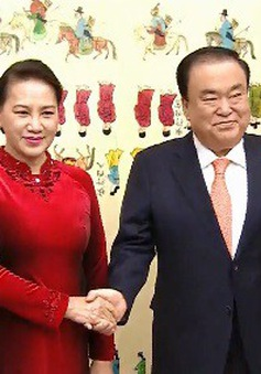 Chủ tịch Quốc hội hội đàm với Chủ tịch Quốc hội Hàn Quốc