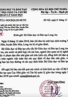 Nghi vấn cô giáo đánh học sinh ở Long An: Bộ GD-ĐT yêu cầu xác minh