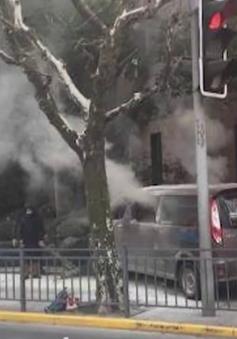 Xe ô tô lao vào người đi bộ ở Thượng Hải, 18 người bị thương