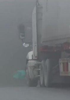 Lào Cai: Nhiệt độ xuống -2 độ C, mặt đường bị đóng băng
