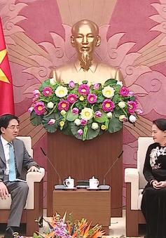 Chủ tịch Quốc hội tiếp Đại sứ Trung Quốc chào từ biệt