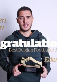 """Hazard giành danh hiệu """"Cầu thủ Bỉ thi đấu ở nước ngoài xuất sắc nhất 2017"""""""