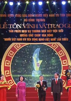 Trao giải sản phẩm, dịch vụ, thương hiệu Việt tiêu biểu