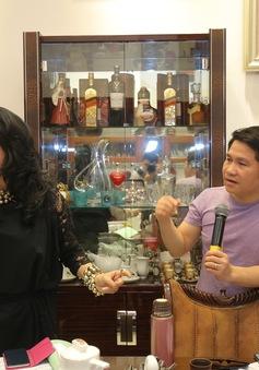 Thanh Lam, Trọng Tấn say sưa tập luyện tại nhà riêng NS Phú Quang