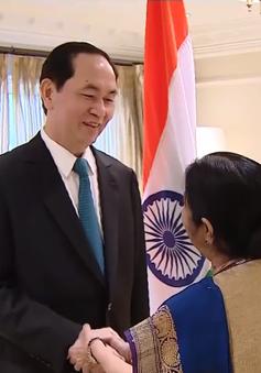 Chủ tịch nước tiếp Bộ trưởng Bộ Ngoại giao Ấn Độ