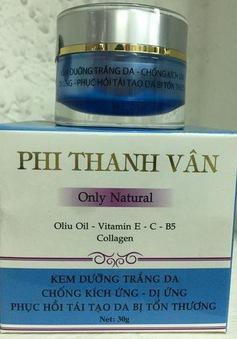 Đình chỉ lưu hành, thu hồi 2 sản phẩm mỹ phẩm của Công ty TNHH mỹ phẩm Phi Thanh Vân