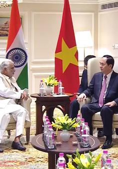 Chủ tịch nước Trần Đại Quang tiếp Chủ tịch Nhóm Nghị sĩ Hữu nghị Việt - Ấn