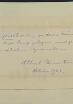 Gần 2,3 tỷ đồng cho bức thư của thiên tài Albert Einstein