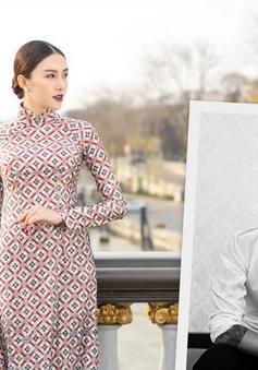NTK Bảo Bảo tự tin áo dài họa tiết gạch bông sẽ gây sốt tại Tuần lễ thời trang quốc tế Việt Nam Xuân - Hè 2018