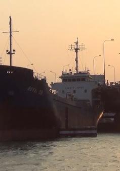 Tàu nghìn tấn đâm vào chân cầu Đồng Nai