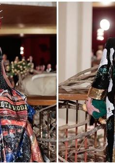 """Show Dolce & Gabbana: Khi siêu mẫu """"báo đen"""" kết hợp cùng người mẫu U50"""